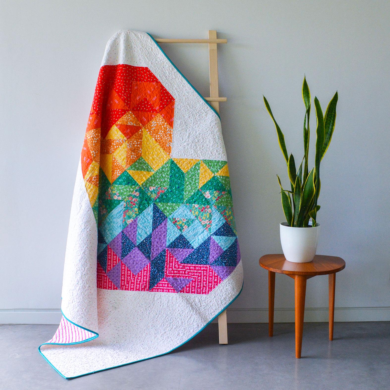 Rainbow Heart Quilt Kit